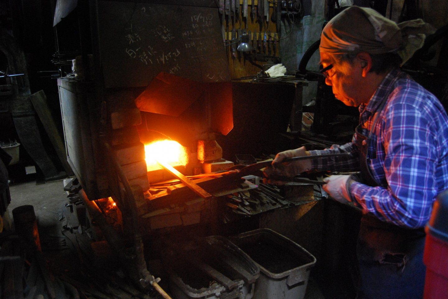 Melting steel in the furnace