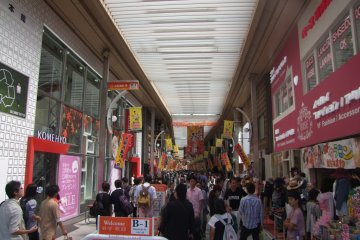 Wide variety of shopping options