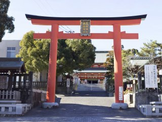 The main entrance to the shrine grounds