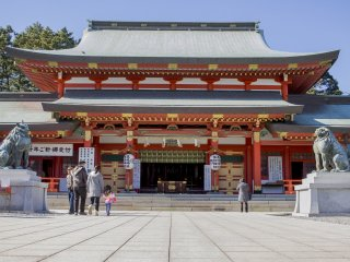 Gosha Shrine's main worship hall
