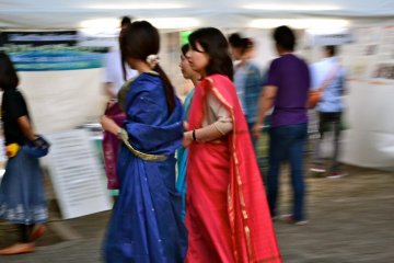 Indo-Japanese love draped in Sarees