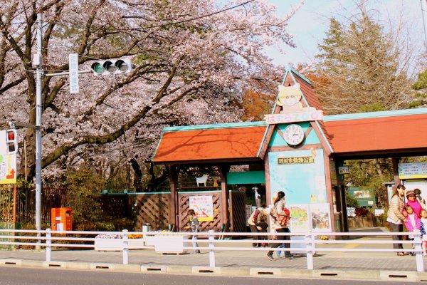 Selamat datang di Kebun Binatang Hamura. Anda membayar tiket masuk pada gerbang masuk.