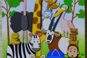 Panfleto do jardim zoológico de Hamura