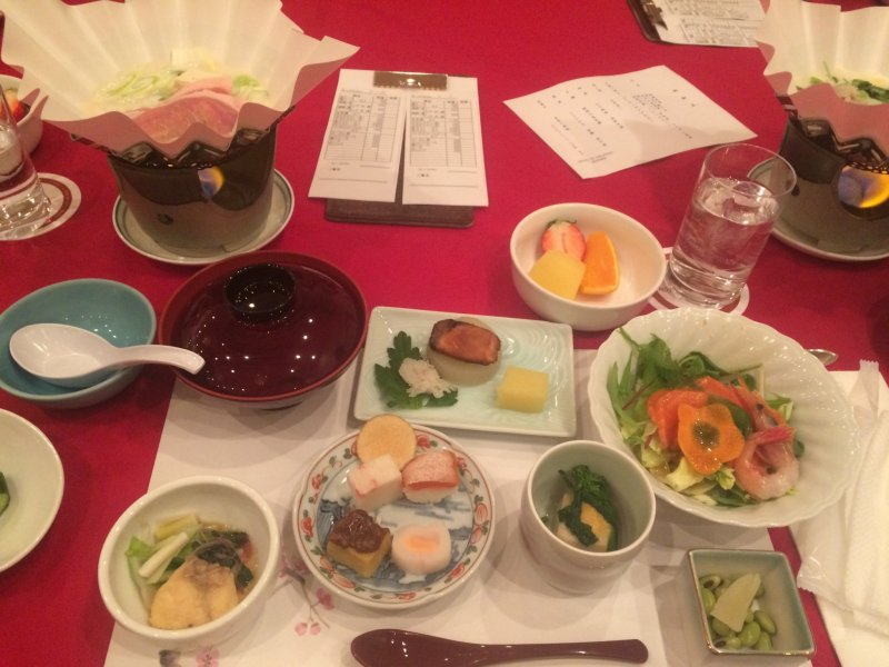 The set Japanese dinner provided for us (there were a few other things not pictured).