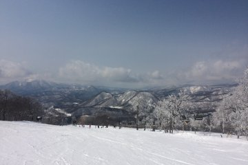 The view from the ski slopes on a gorgeous day!