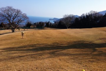 There are holes for a 9 hole course of golf, or chain-baskets for disc golf