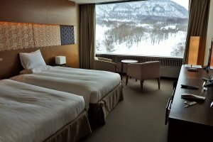All rooms have free Wi-Fi and large picture windows with lovely mountain views.