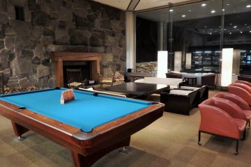 Guests enjoy sitting in front of the fireplace, playing pool, and/or spending quality time with family & friends in the spacious lobby.