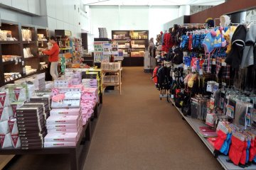 A shop on the first floor offers a wide selection of items, including locally-made souvenirs.