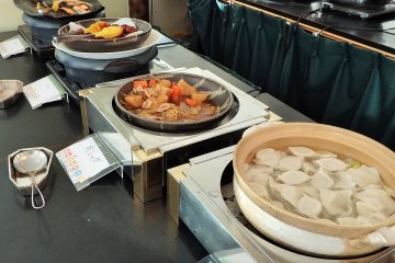 Enjoy a buffet that offers something for every member of the family.