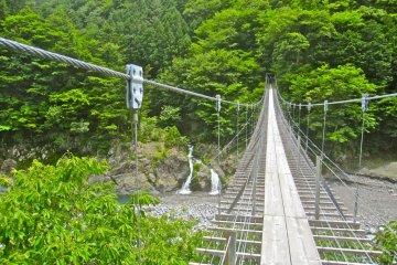 A waterfall from the Saru Ami no Tsuri Bashi