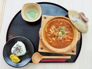 One of the hotel's winter lunch recommendations - the Matagi curry udon.