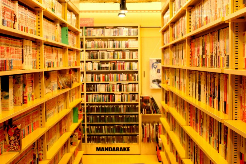 Piles and piles of comics and other manga-related reading materials would greet your eyes.