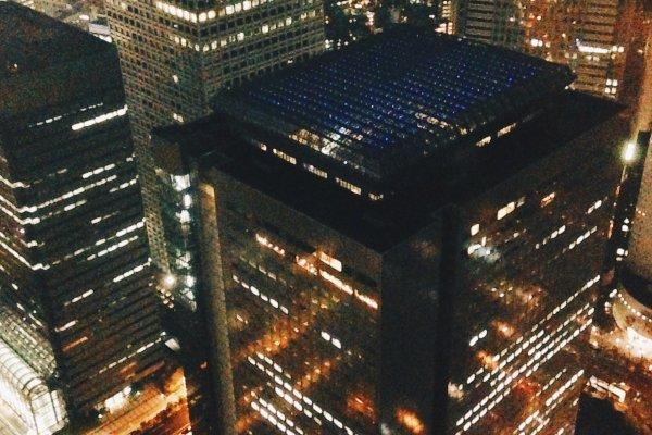 Melihat cahaya malam kota Tokyo dari atas