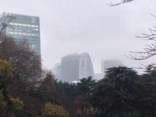Gedung-gedung pencakar langit di Shinjuku