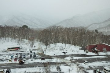 In winter, as the day progresses, the snow often rolls in.