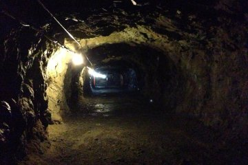 Deeper into the complex, all of the tunnels are wide enough to hold tanks and other large military equipment.