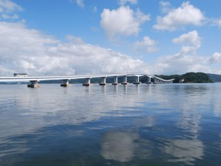 Start in Wakura Onsen and cross the first bridge
