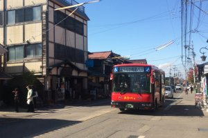 This is one of the buses that takes you around the best tourist spots in Aizuwakamatsu City for only 500 yen for a day pass!