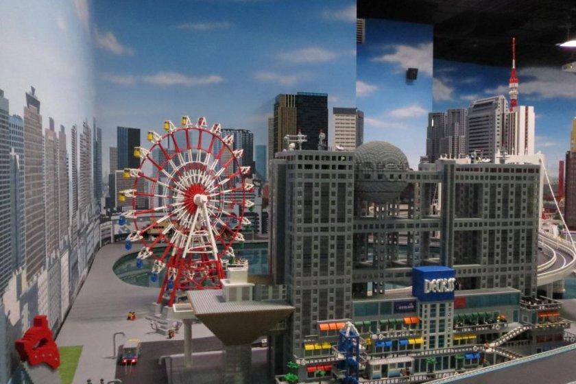 Odaiba made from Lego