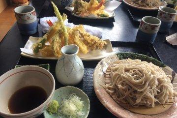 Homemade Soba in Nihonmatsu