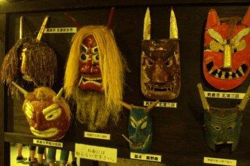 <p>Traditional Namahage masks.</p>
