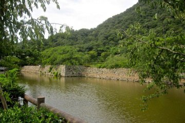 The moat and the outermost wall