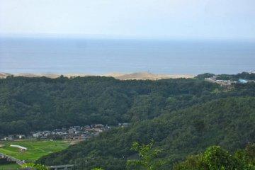 The Tottori Sand Dunes from the Summit of Kumatsuyama
