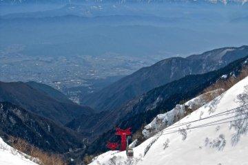 Komagatake Ropeway, Komagane, the Minami Alps and Mt. Fuji