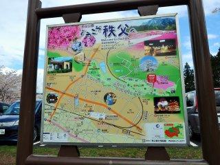 공원의 지도