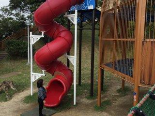 No kid can resist this twisty slide.