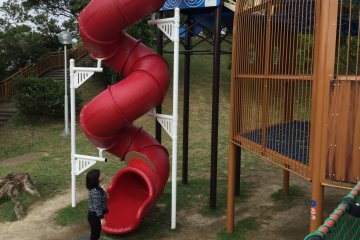 No kid can resist this twisty slide.