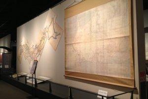 Peta yang telah digabungkan, membentuk Peta Jepang seutuhnya