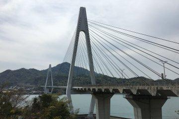 The next one is Ikuchi Bridge that connects Innoshima to Ikuchijima. It is just 790m long.