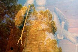 One of the guardian deities of Oyamazumi Shrine