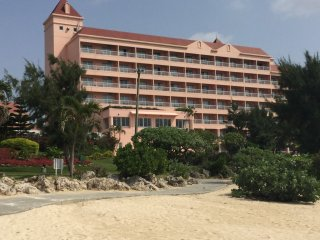 The hotel from the beach.