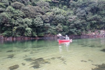 Kayaking down the Anbo River