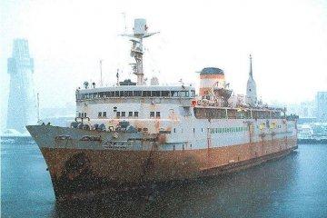The Hakkoda Maru before restoration work.