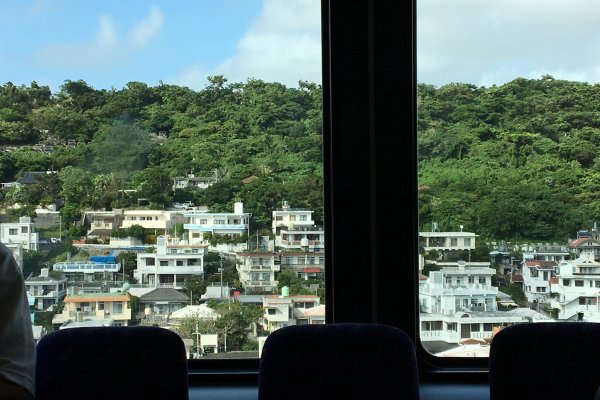 The Yui Monorail is elevated and has some great views of the city, especially towards Shuri Castle which is on a hill