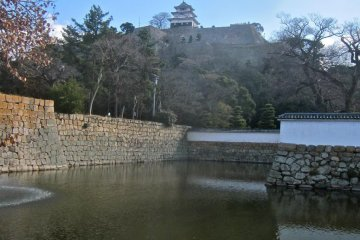 Marugame Castle Tower from the moat