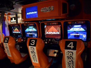 Up to 4 players can enjoy a driving game