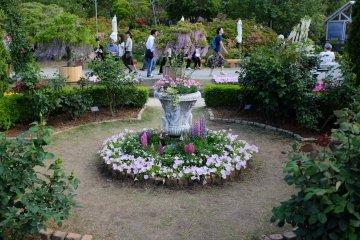 百花舞台中的野花噴泉