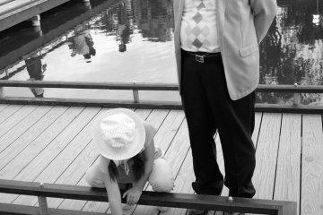 孫女與外公的獨處時刻