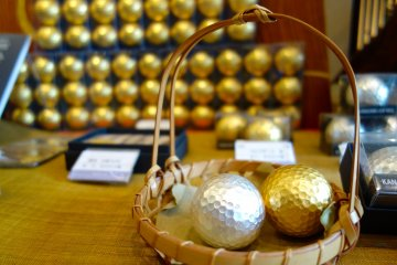 Sakuda's shimmering golf balls are good to go for use on the course