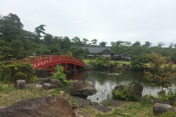 A lovely pond and bridge