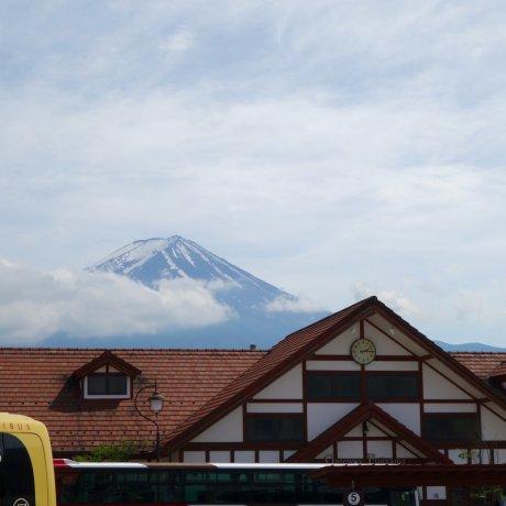 Mt. Fuji from Kawaguchiko Station