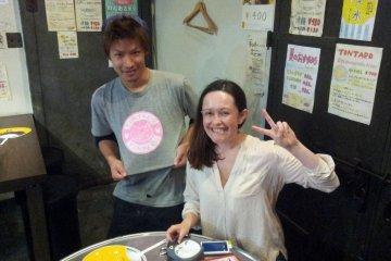 Tontaro waiter with the writer