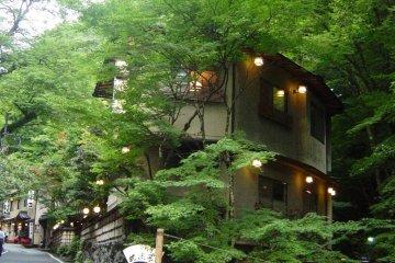 Cozy inns along the main road in Kifune