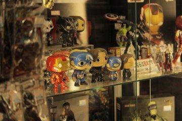 Figuras de colección de Marvel.