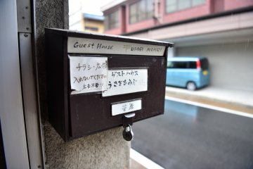 The guesthouse mailbox